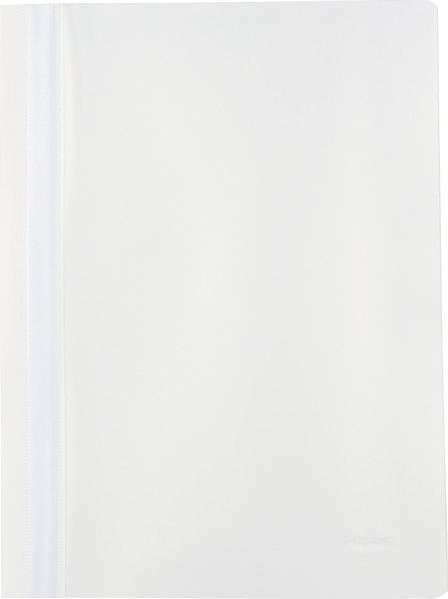 Pergamy snelhechtmap, ft A4, PP, pak van 25 stuks, wit