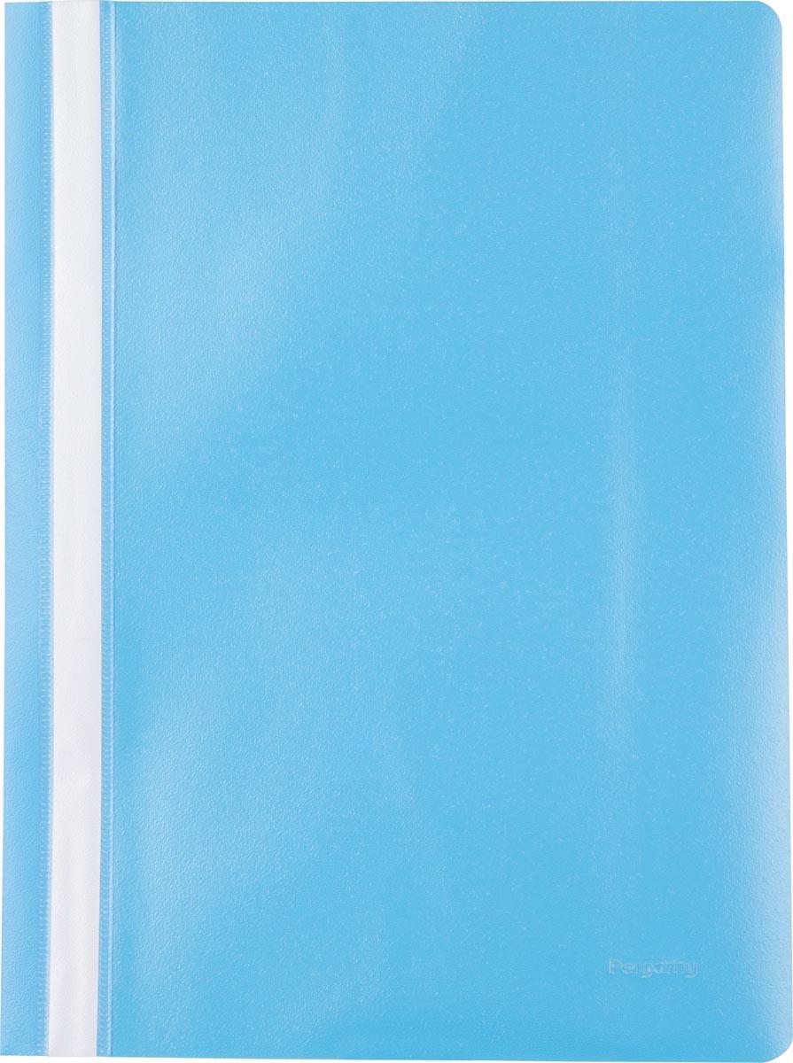 Pergamy snelhechtmap, ft A4, PP, pak van 5 stuks, blauw