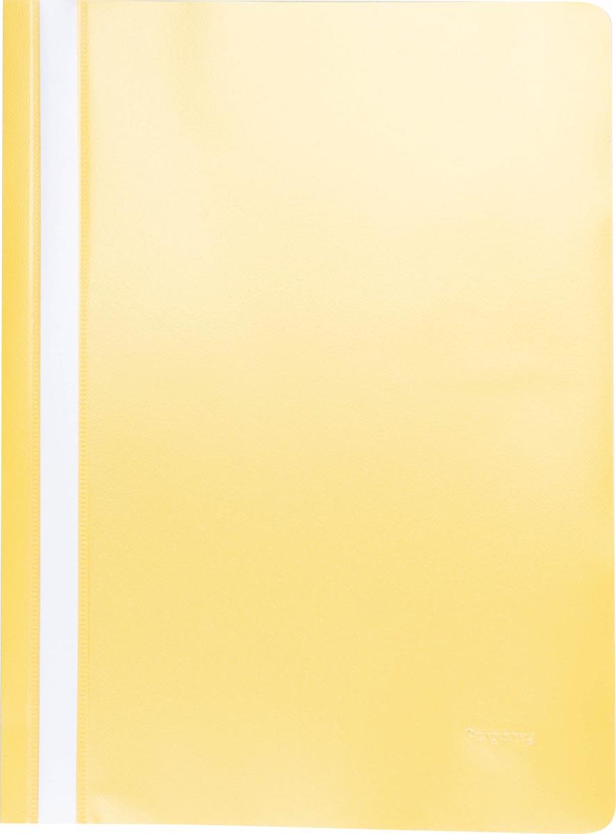 Pergamy snelhechtmap, ft A4, PP, pak van 25 stuks, geel