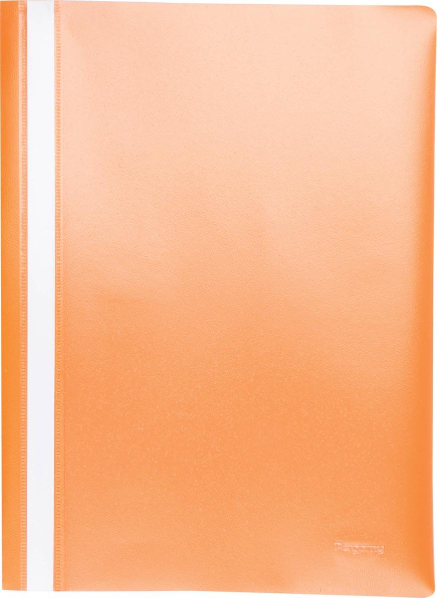 Pergamy snelhechtmap, ft A4, PP, pak van 25 stuks, oranje