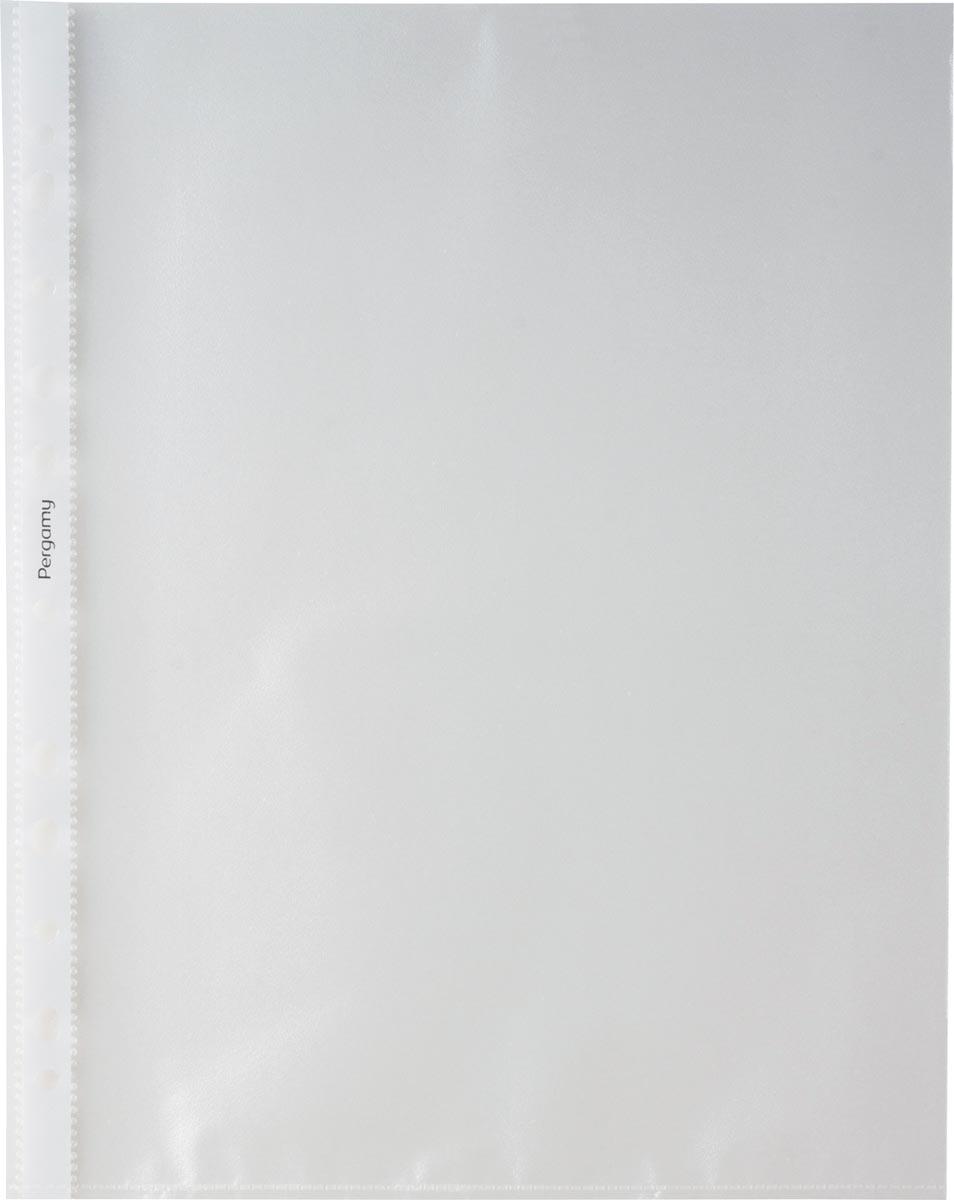 Pergamy geperforeerde showtas, ft A4, 11-gaatsperforatie, gekorrelde PP van 50 micron, pak van 100 s