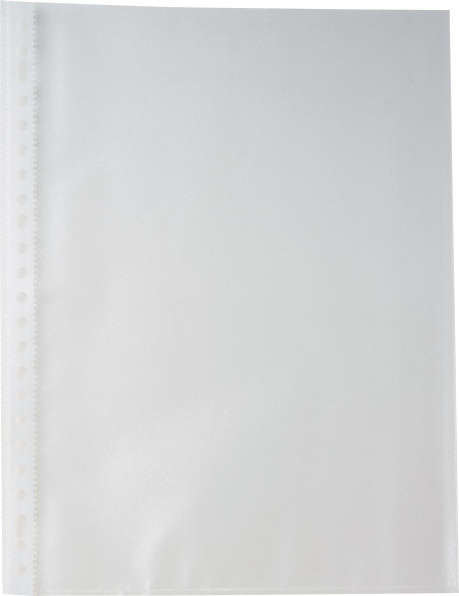 Pergamy geperforeerde showtas, A4, 23-gaatsperforatie, gekorrelde PP van 60 micron, pak van 100 stuk