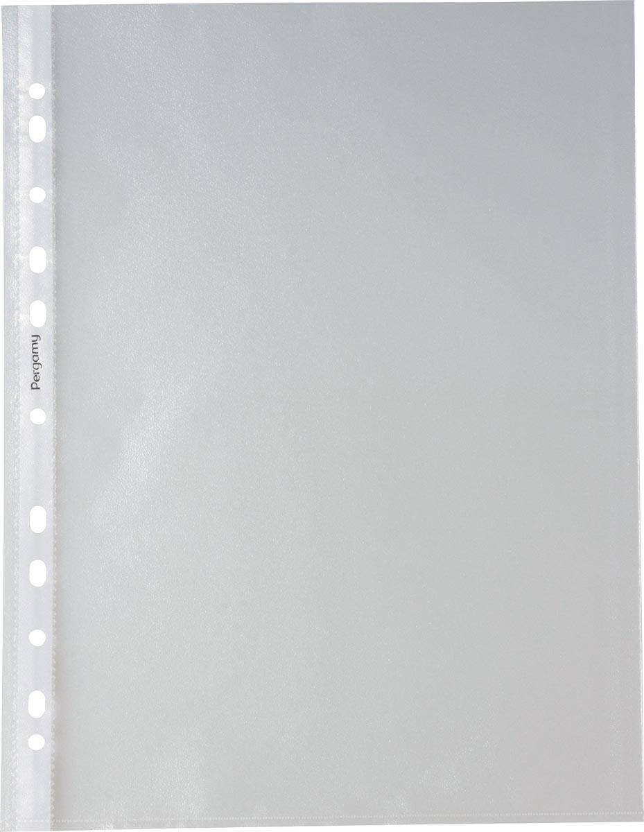 Pergamy geperforeerde showtas, ft A4, 11-gaatsperforatie, gekorrelde PP van 60 micron, pak van 200 s