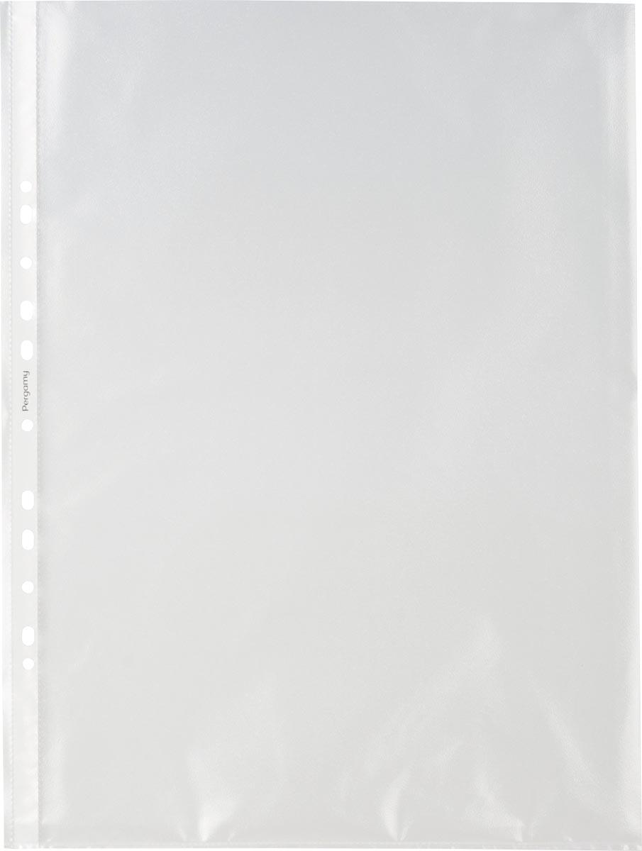 Pergamy geperforeerde showtas, ft A3 portret, 11-gaatsperforatie, gekorrelde PP, pak van 100 stuks