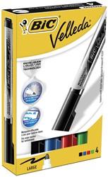 Bic Whiteboardmarker Liquid Ink Tank doos van 4 stuks in geassorteerde kleuren
