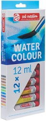 Talens Art Creation aquarelverf tube van 12 ml, set van 12 tubes in geassorteerde kleuren