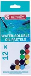 Talens Art Creation wateroplosbare oliepastels, doos met 12 stuks in geassorteerde kleuren