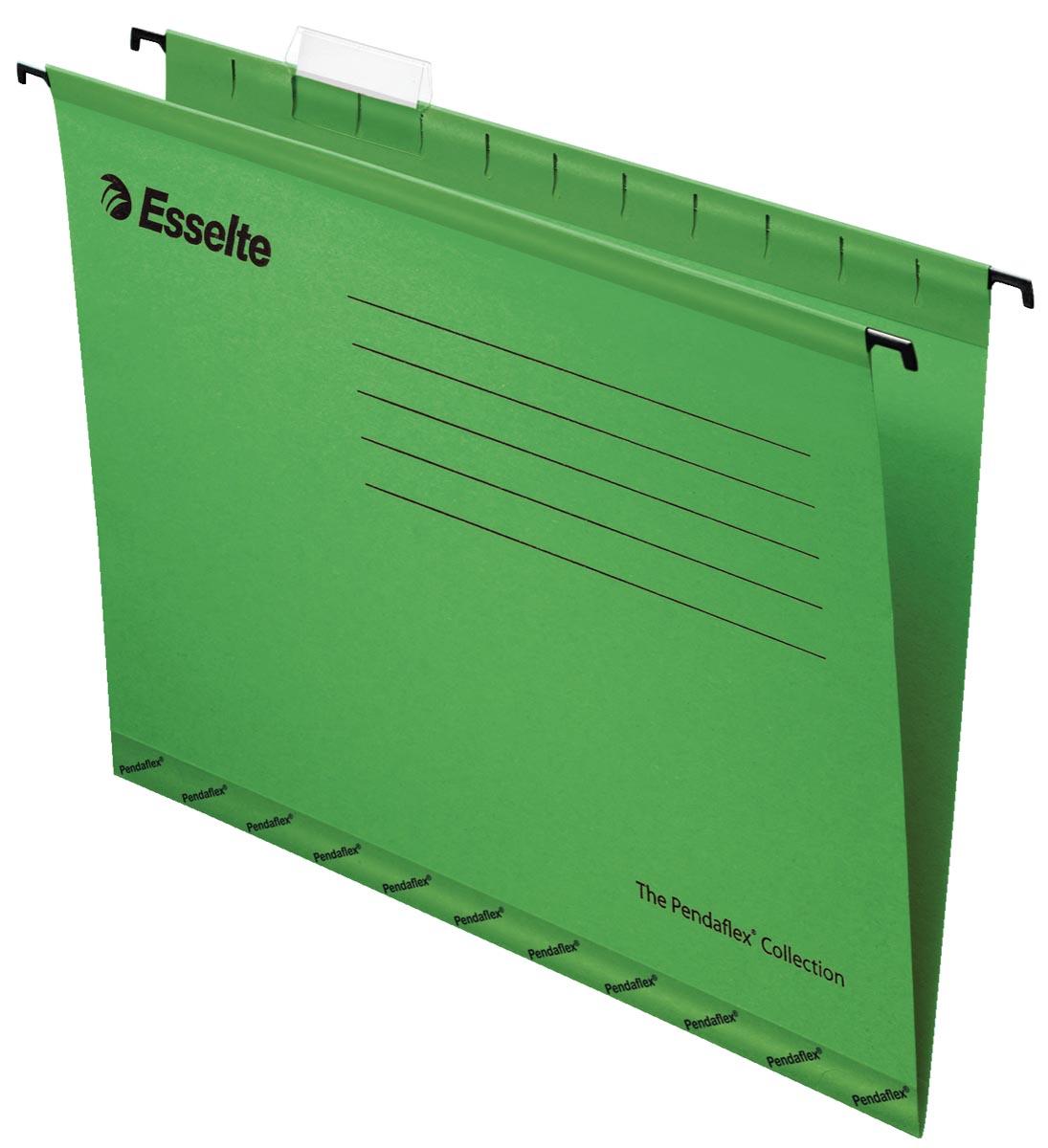 Esselte hangmappen voor laden Pendaflex Plus tussenafstand 330 mm, groen, doos van 25 stuks