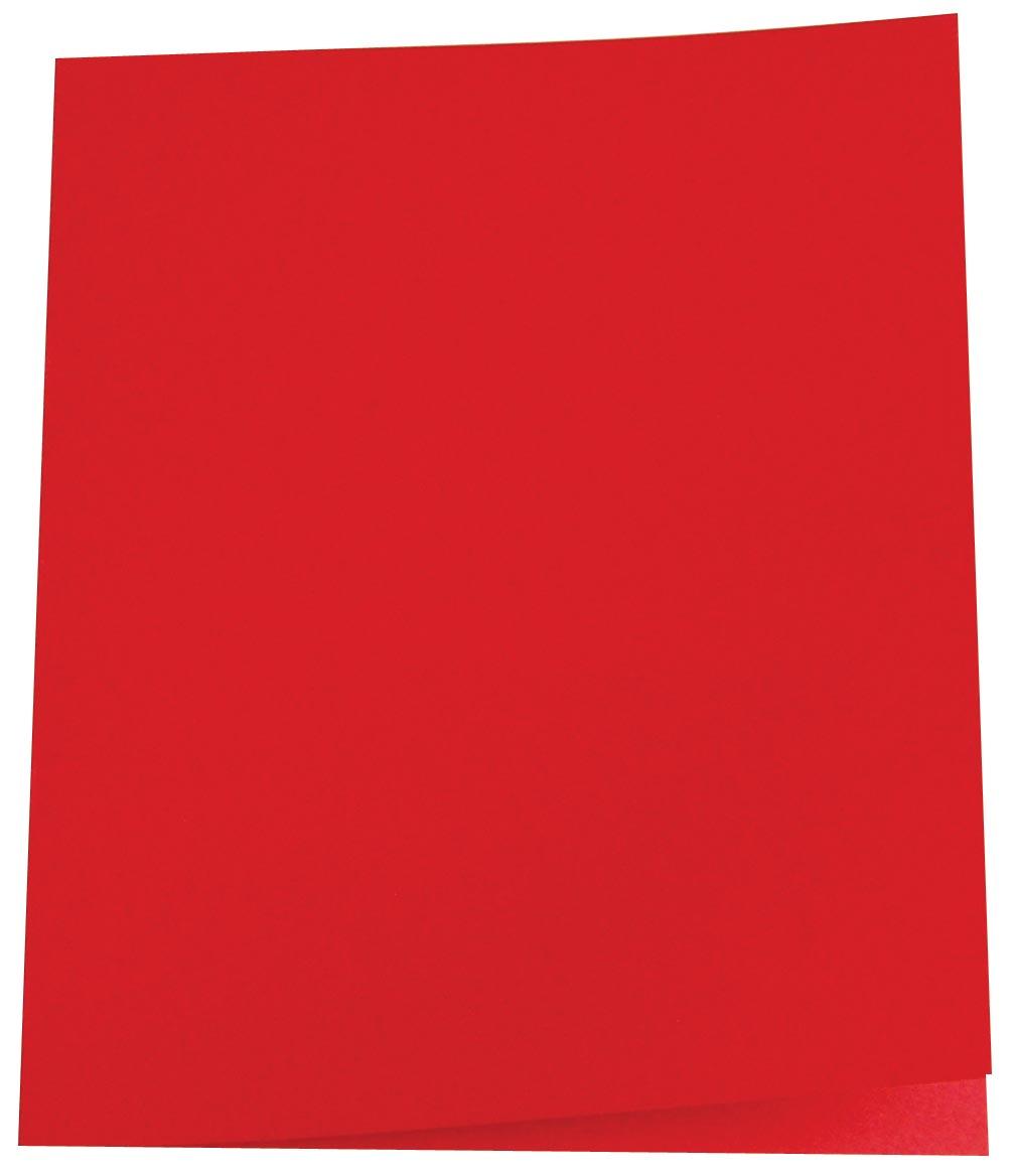 Pergamy dossiermap rood, pak van 100
