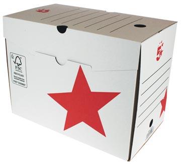 5 Star archiefdoos ft 25x33x20 cm, rood