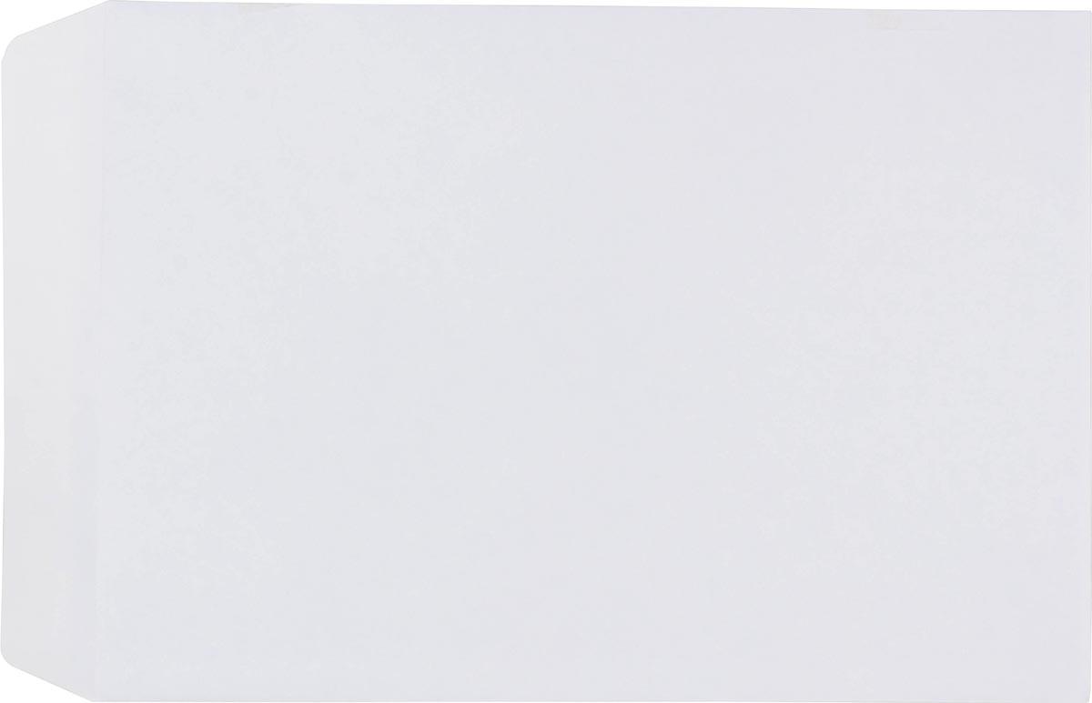 Pergamy velijnzakjes 90 g, ft C4: 229 x 324 mm, zelfklevend met strip, wit, doos à 250 stuks