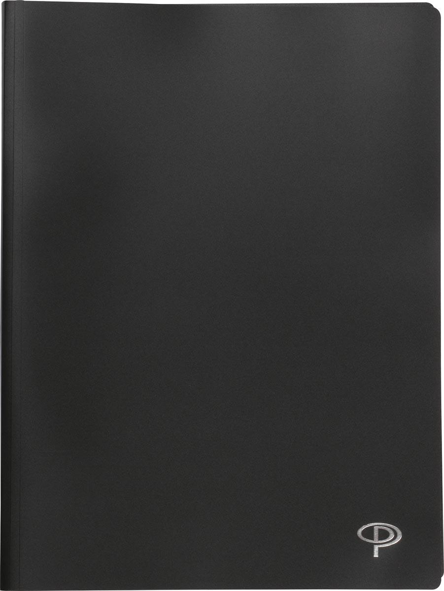 Pergamy showalbum, voor ft A4, met 100 transparante tassen, zwart