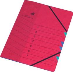 5 Star sorteermap rood, 7-delig