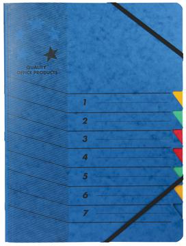 5 star sorteermap blauw, 7-delig