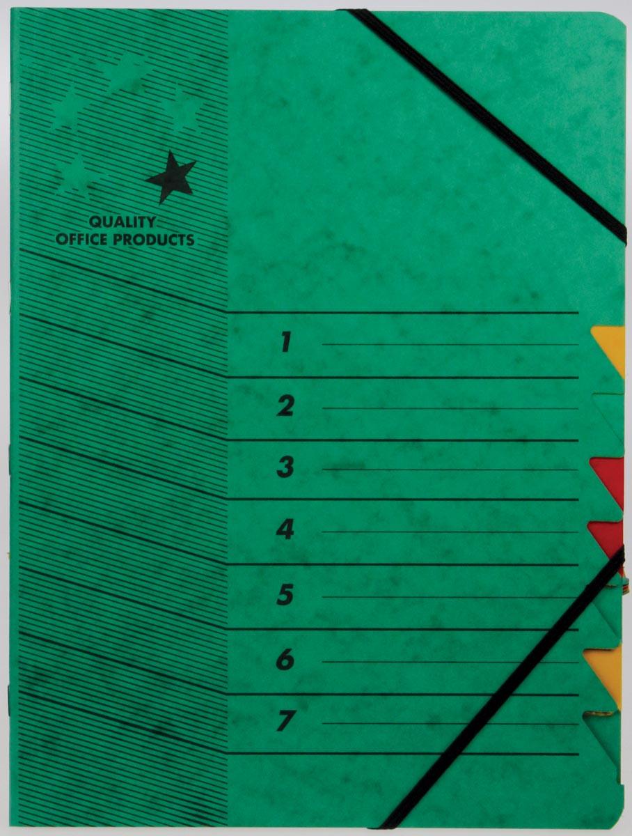 5 Star sorteermap groen, 7-delig