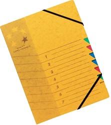 5 Star sorteermap geel, 7-delig