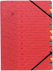 5 star sorteermap, rood, 12-delig