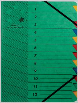 5 star sorteermap groen, 12-delig
