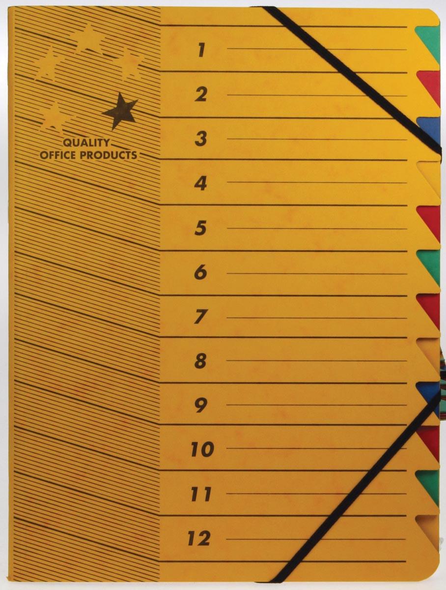 5 Star sorteermap geel, 12-delig