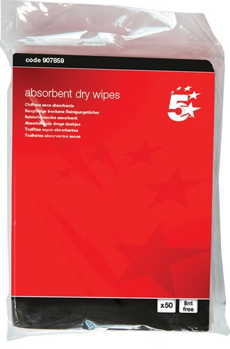 5 Star absorberende doekjes, pak van 50 stuks