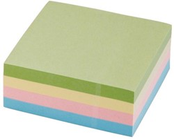 5 Star Re-Move Note Cube ft 76 x 76 mm, pastelkleuren, blok van 320 vel