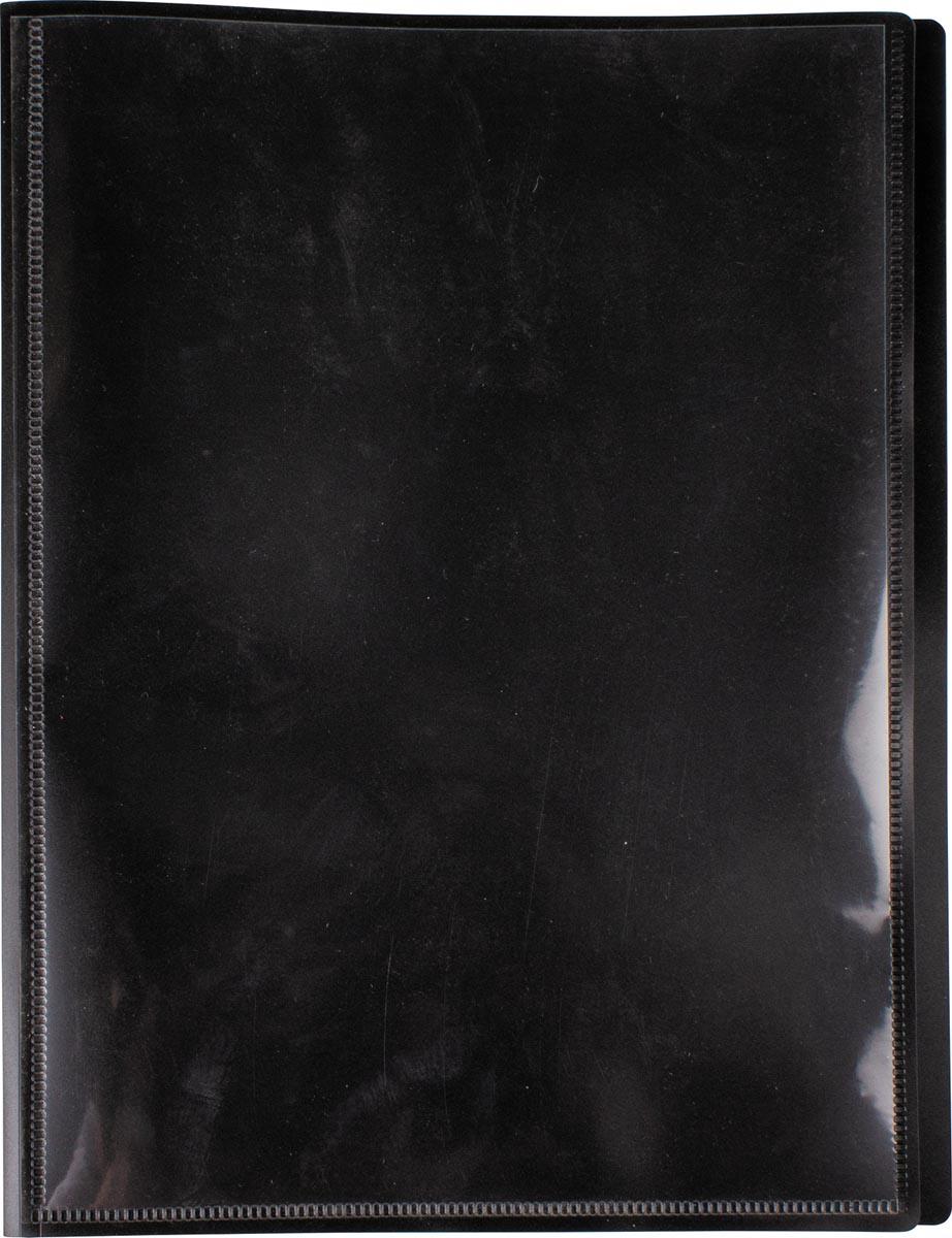 Pergamy personaliseerbare showalbum, voor ft A4, met 30 transparante tassen, zwart