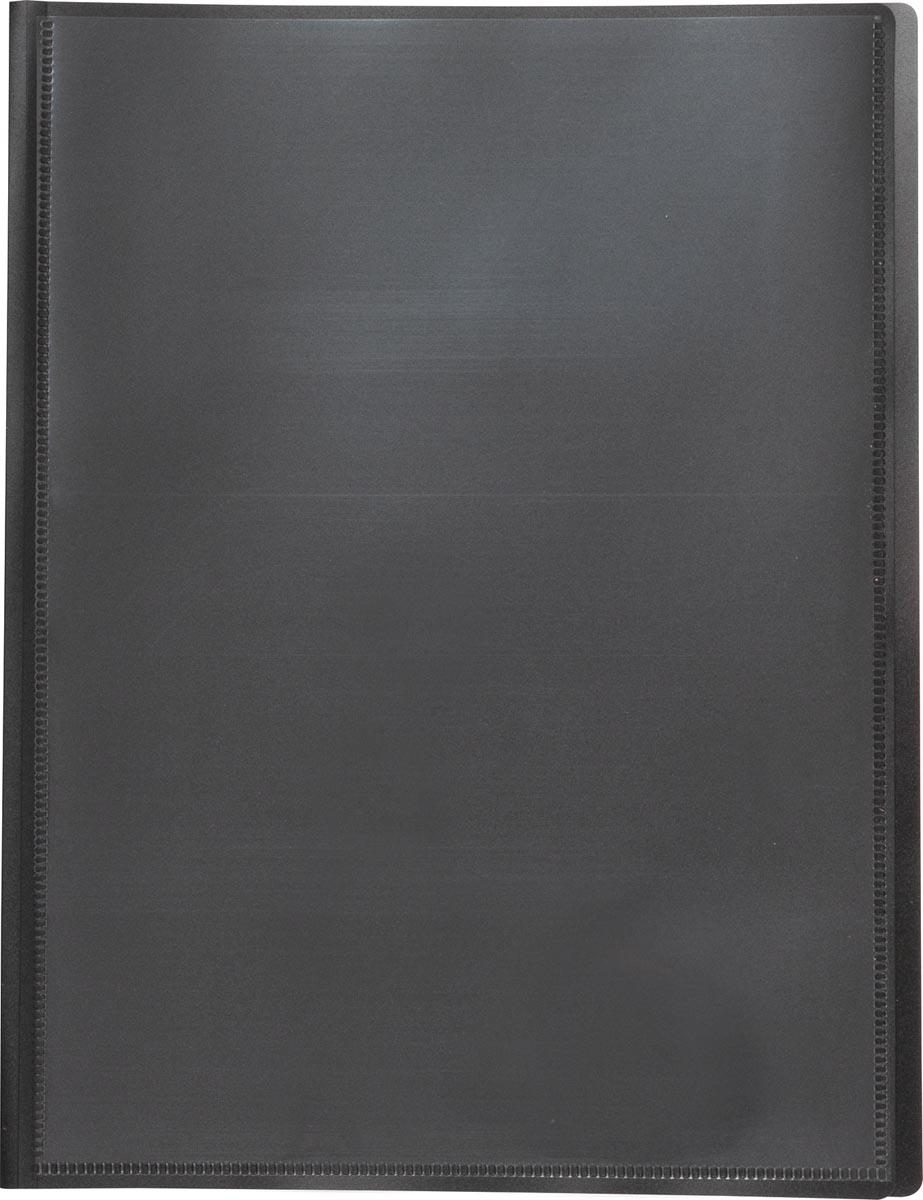 Pergamy personaliseerbare showalbum, voor ft A4, met 40 transparante tassen, zwart