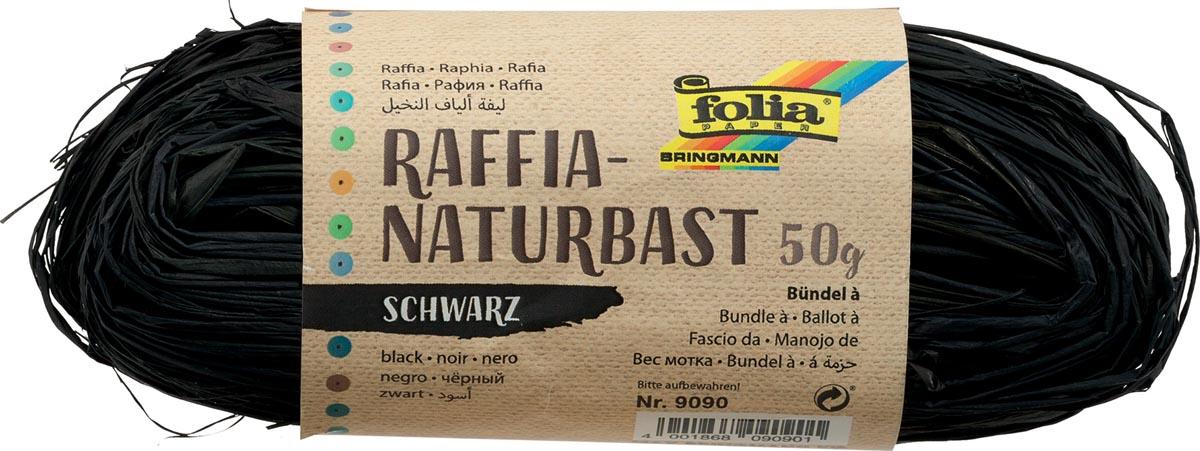 Folia raffia zwart