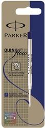 Parker vulling voor balpen Quinkflow, fijne punt 0,8 mm, blauw, op blister