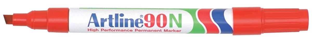 Permanent marker Artline 90 rood