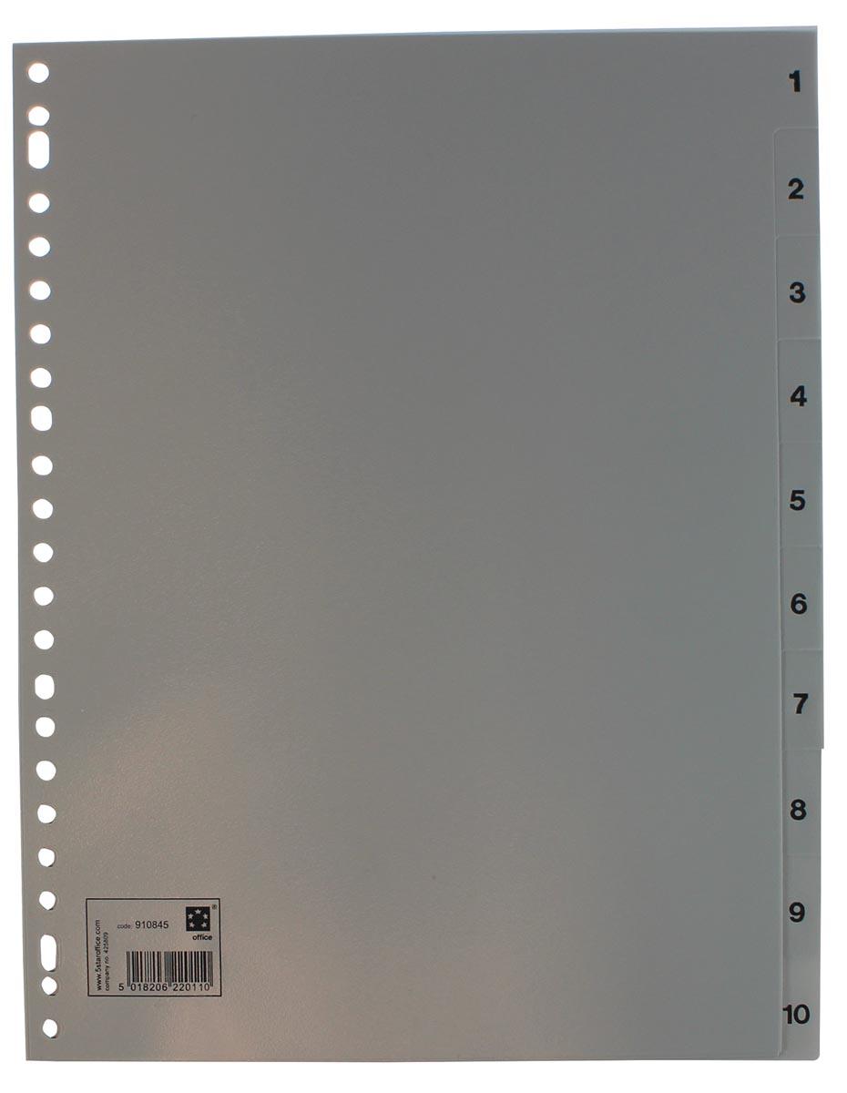 5 Star tabbladen set 1-10, ft A4