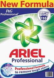 Ariel waspoeder Actilift, voor witte en licht gekleurde was, 110 wasbeurten, doos van 7,15 kg