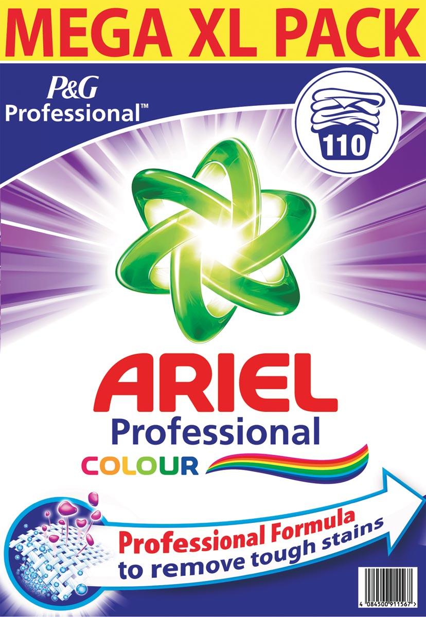 Afbeelding van Ariel waspoeder, voor gekleurde was, 110 wasbeurten, doos van 7,15 kg