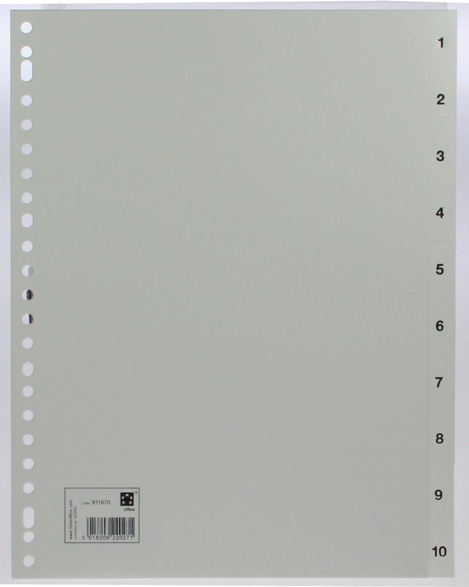 5 Star tabbladen set 1-10, wit