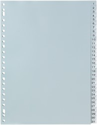 5 Star tabbladen set 1-31, wit
