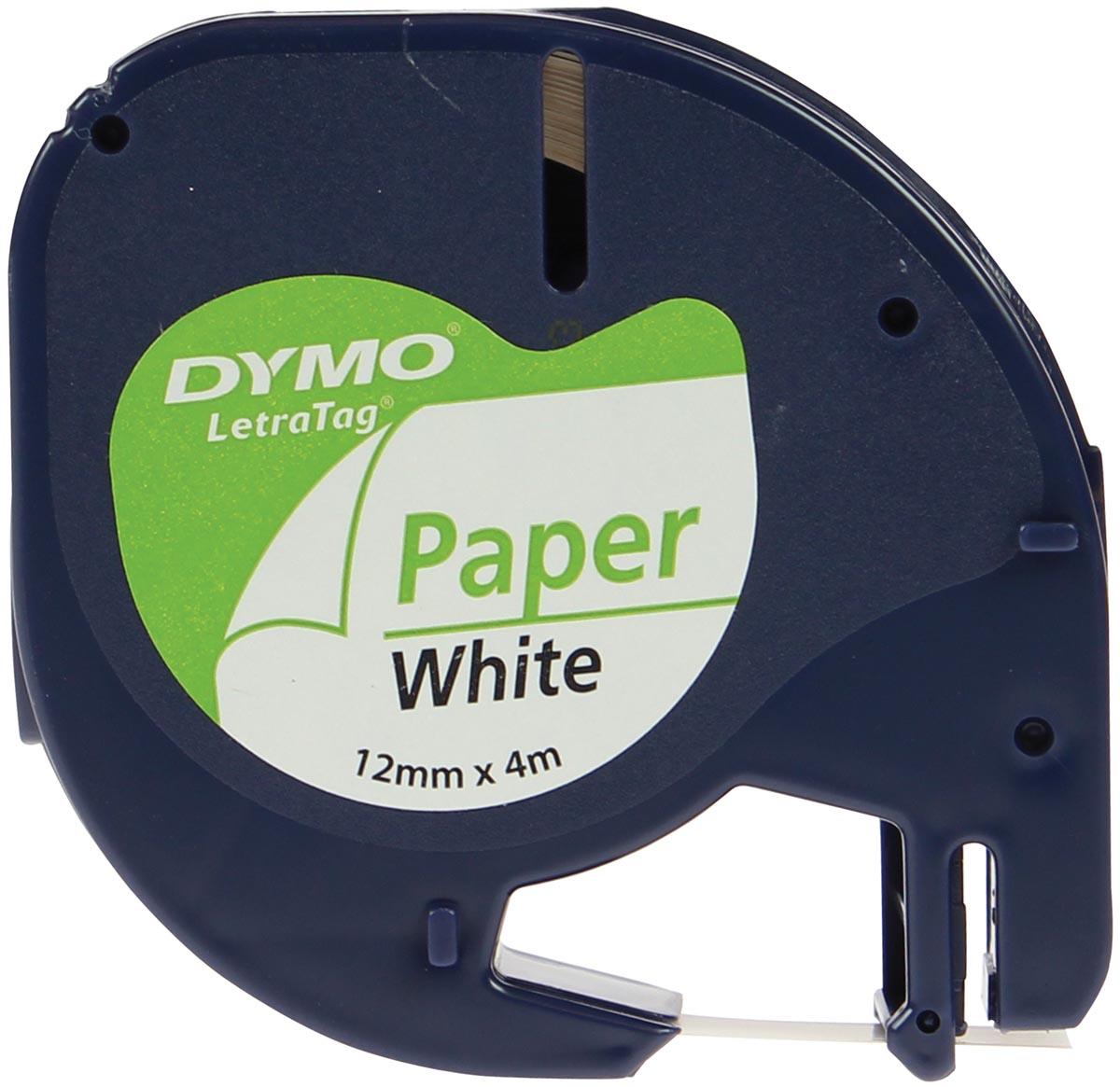 Dymo LetraTAG tape 12 mm, papier wit