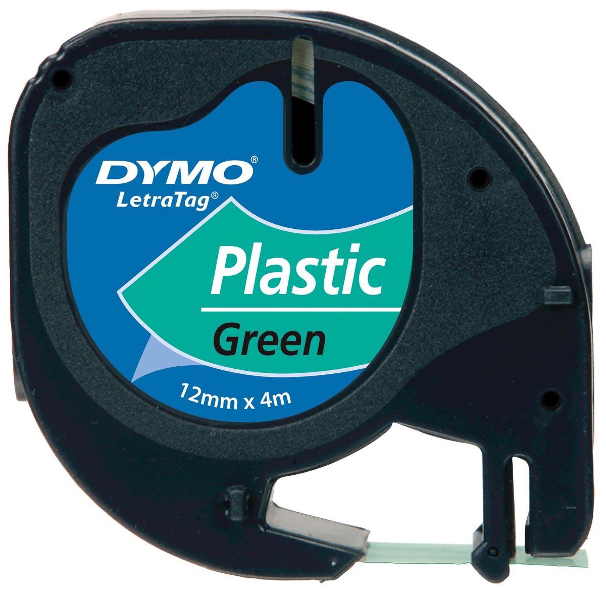 Dymo LetraTAG tape 12 mm, plastic groen