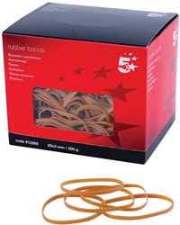 5 Star elastieken 3 mm x 80 mm, doos van 500 g