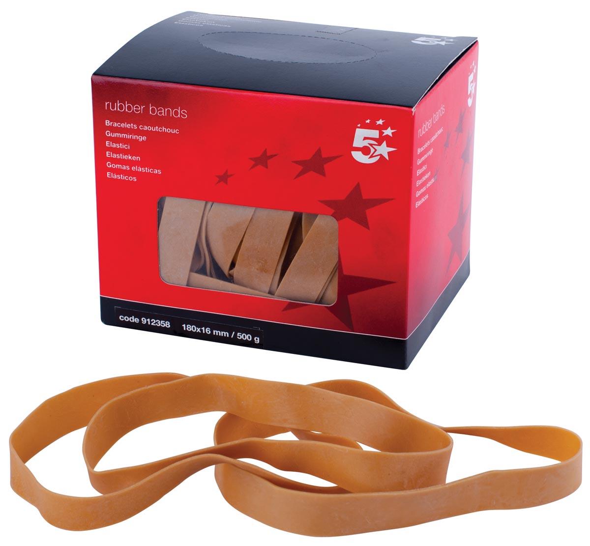 5 Star elastieken 16 mm x 180 mm, doos van 500 g