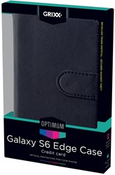 Grixx Optimum case voor Samsung Galaxy S6 Edge, zwart