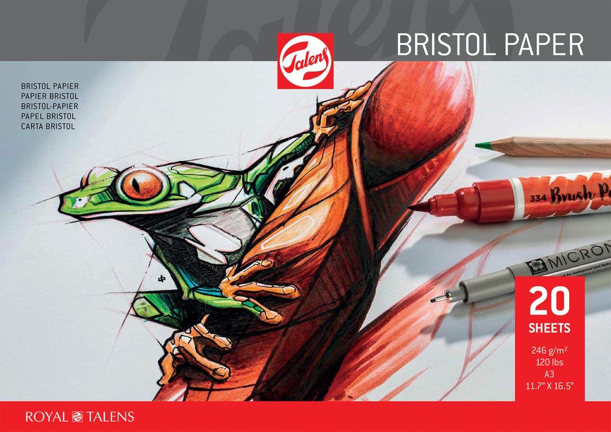 Talens Bristol papier, 250 g/m², ft 29,7 x 42 cm (A3)