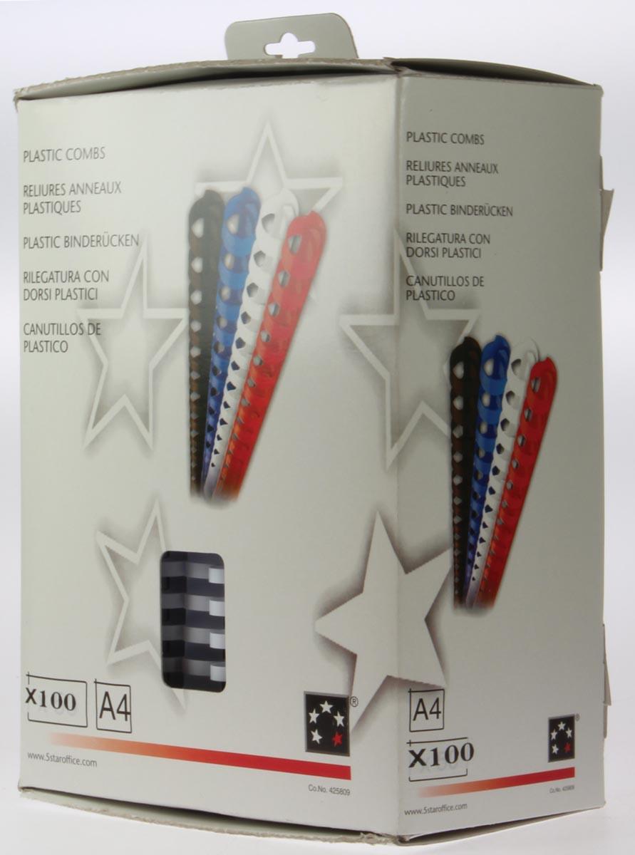 5 Star bindruggen, doos van 100 stuks, 20 mm, wit