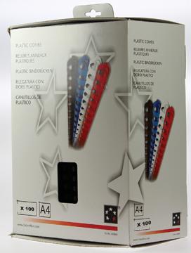 5 Star bindruggen, doos van 100 stuks, 20 mm, zwart