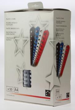 5 Star bindruggen, doos van 50 stuks, 22 mm, wit