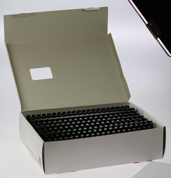5 Star bindruggen, doos van 50 stuks, 22 mm, zwart