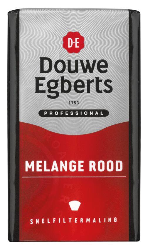 Douwe Egberts koffie, Melange rood, pak van 250 g