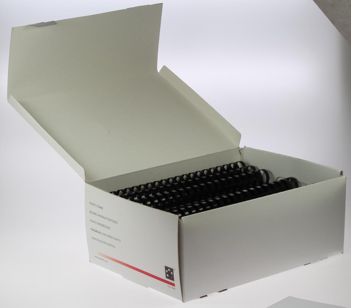 5 Star bindruggen, doos van 50 stuks, 25 mm, zwart