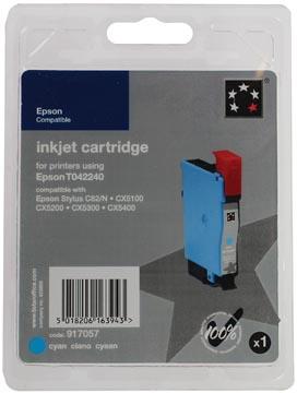 5 Star inktcartridge cyaan, 240 pagina's voor Epson T0422 - OEM: C13T042240
