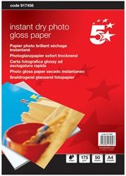5 Star glossy fotopapier ft A4, 175 g, pak van 50 vel