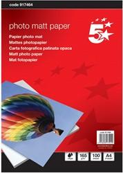 5 Star mat fotopapier ft A4, 165 g, pak van 100 vel
